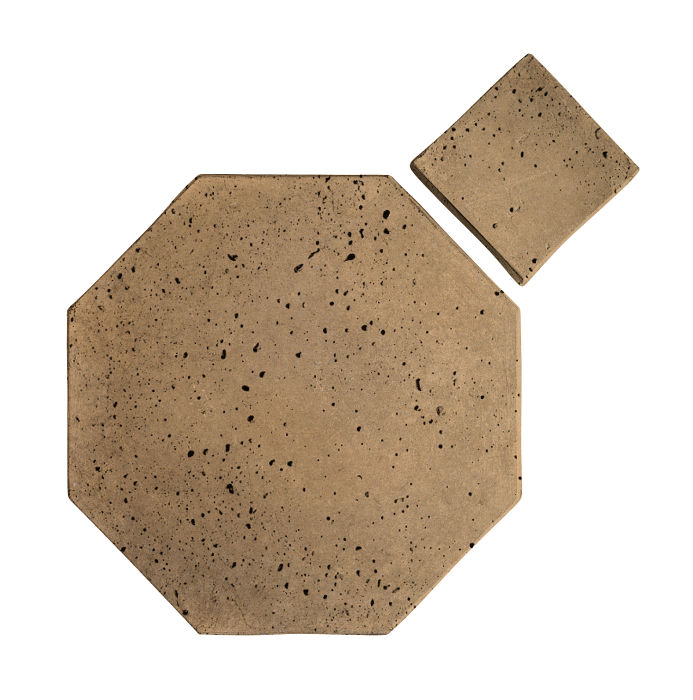 12x12 Artillo Octagon Set Caqui Travertine