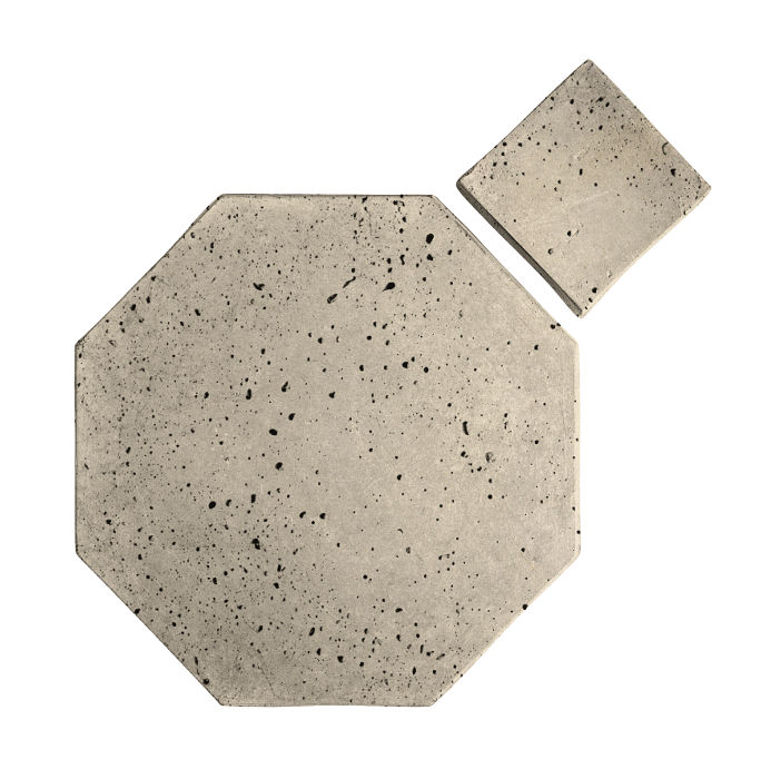12x12 Artillo Octagon Set Early Gray Travertine