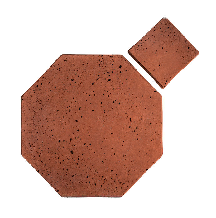 12x12 Artillo Octagon Set Mission Red Travertine