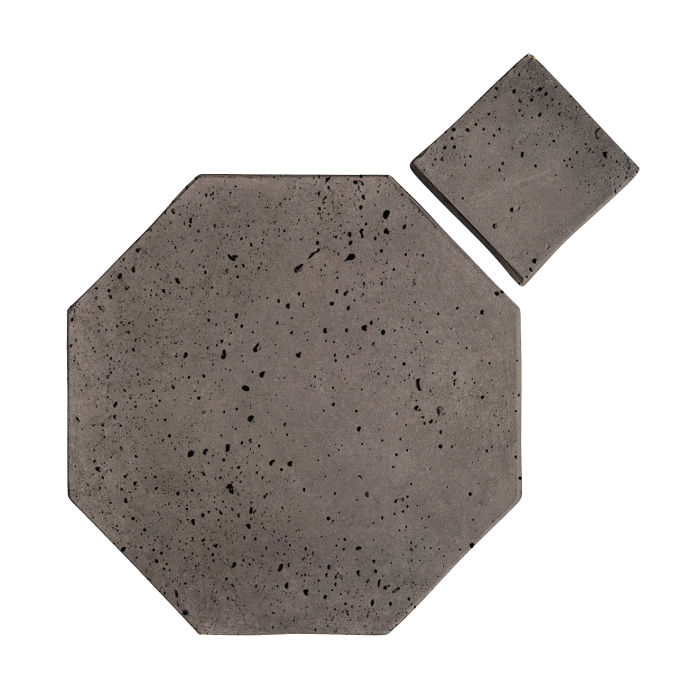 12x12 Artillo Octagon Set Smoke Travertine