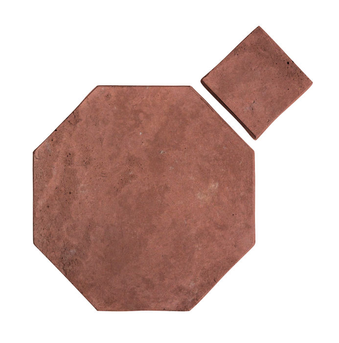 12x12 Artillo Octagon Set Spanish Inn Red Limestone