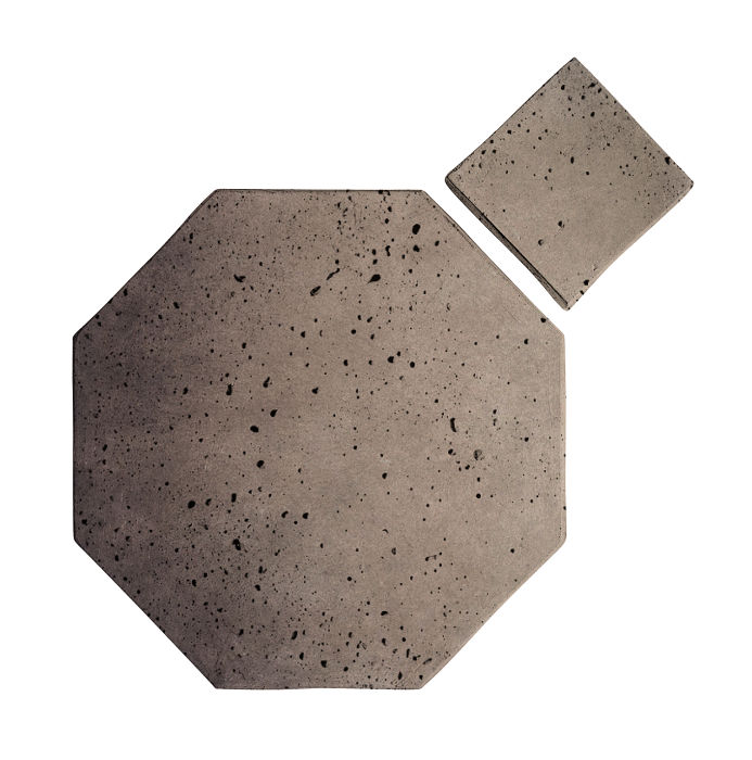 8x8 Artillo Octagon Set Antik Gray Travertine