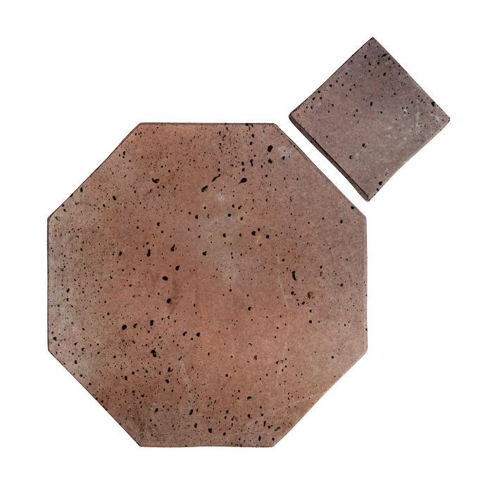 8x8 Artillo Octagon Set Beachwood Flash Travertine