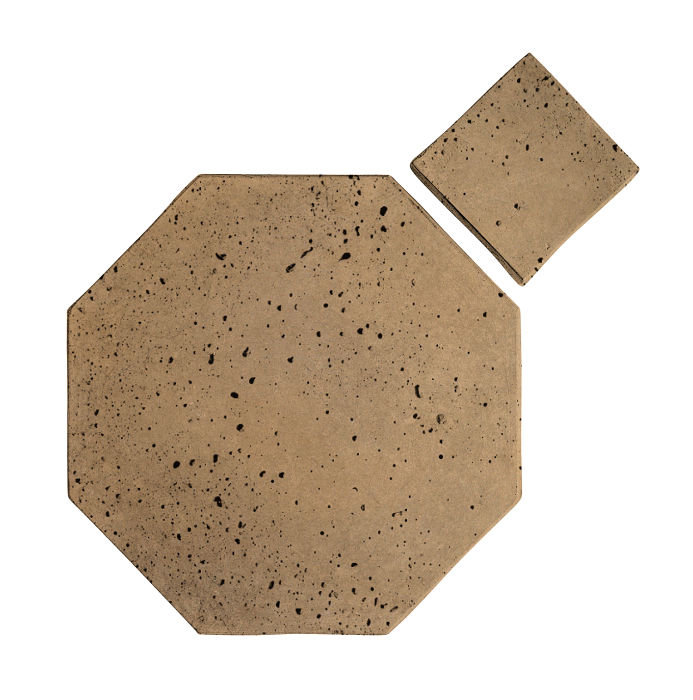 8x8 Artillo Octagon Set Caqui Travertine