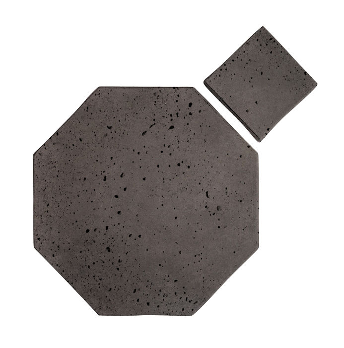 8x8 Artillo Octagon Set Charcoal Travertine