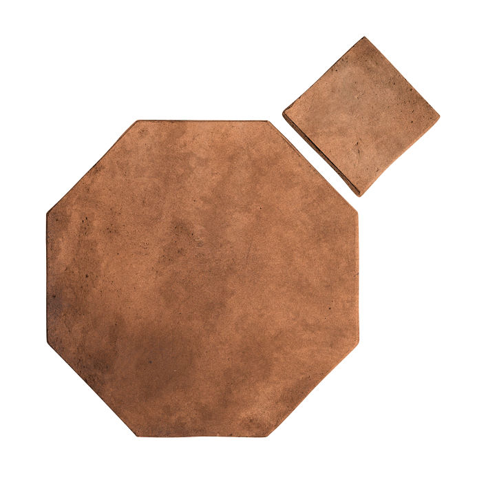 8x8 Artillo Octagon Set Cotto Dark Limestone