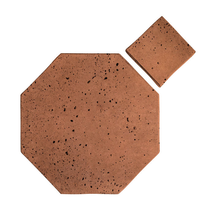 8x8 Artillo Octagon Set Cotto Gold Travertine