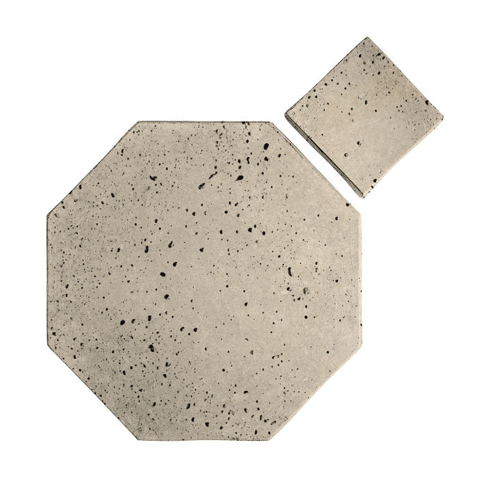 8x8 Artillo Octagon Set Early Gray Travertine