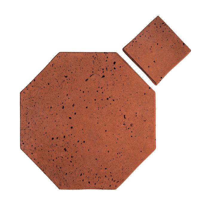 8x8 Artillo Octagon Set Mission Red Travertine