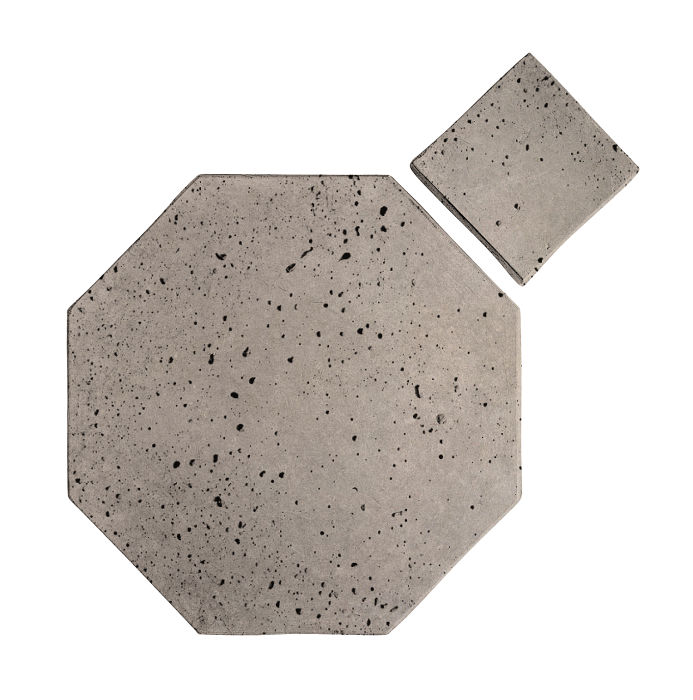 8x8 Artillo Octagon Set Natural Gray Travertine