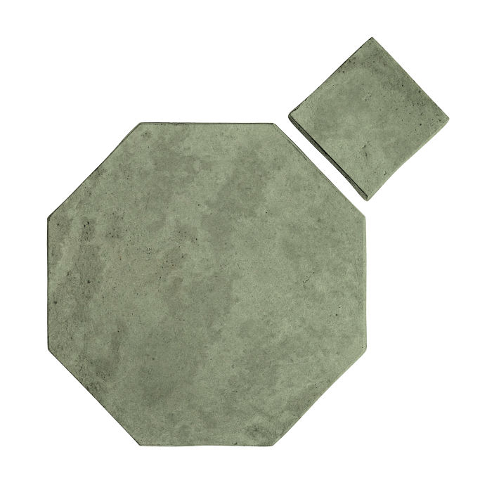 8x8 Artillo Octagon Set Ocean Green Light Limestone