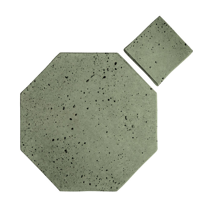 8x8 Artillo Octagon Set Ocean Green Light Travertine