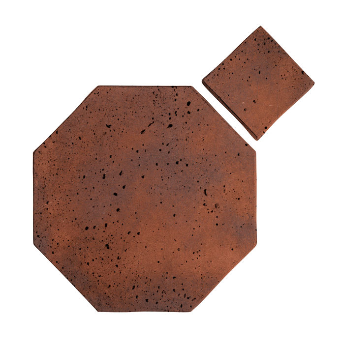 8x8 Artillo Octagon Set Red Flash Travertine