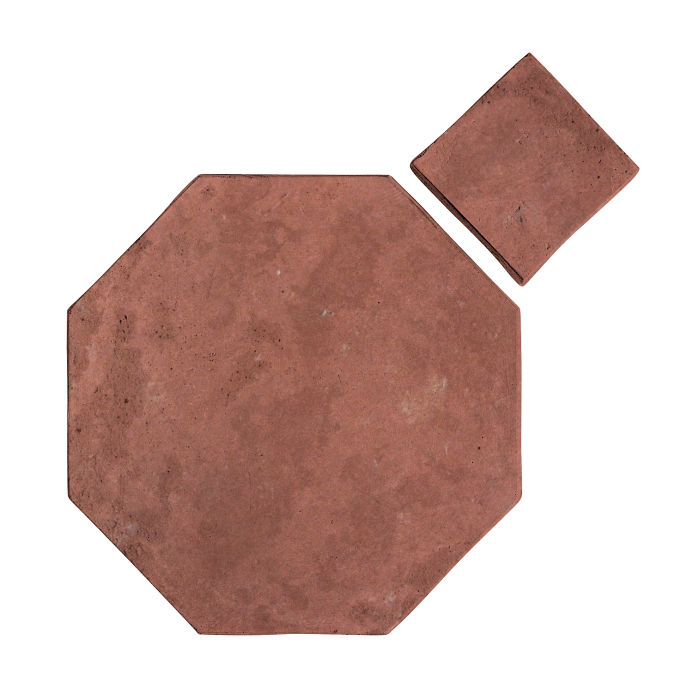 8x8 Artillo Octagon Set Spanish Inn Red Limestone