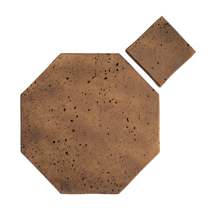 8x8 Artillo Octagon Set Tuscan Mustard Travertine