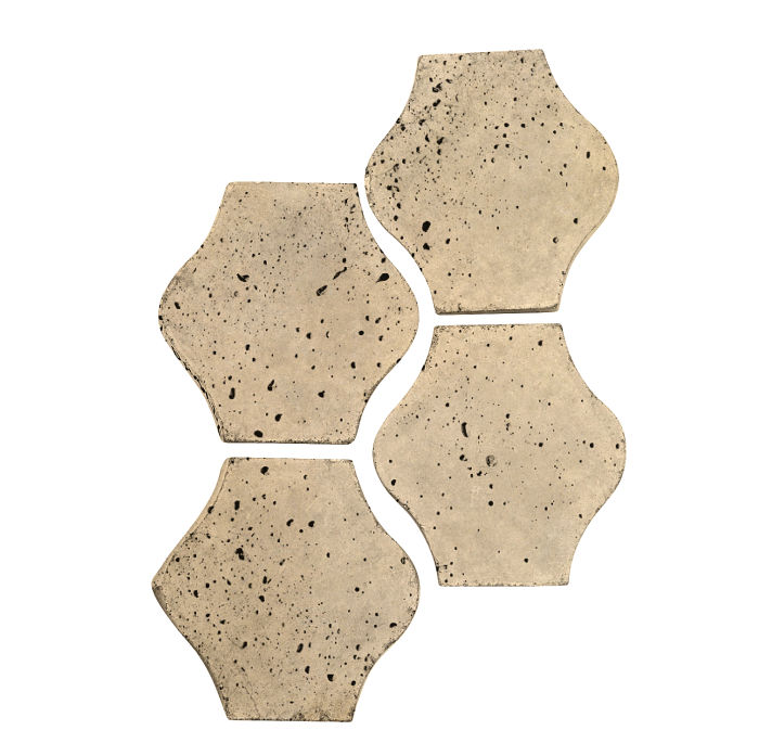 4x4 Mini Pata Grande Bone Travertine