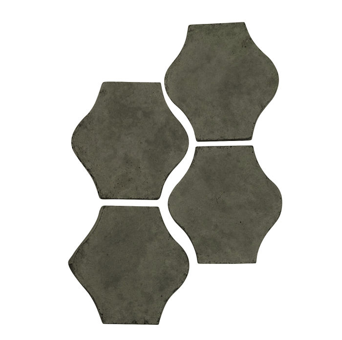 4x4 Mini Pata Grande Ocean Green Dark Limestone