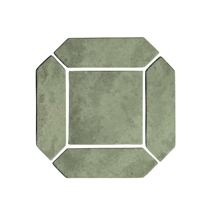 3x11 Artillo Picket Set Ocean Green Light Limestone
