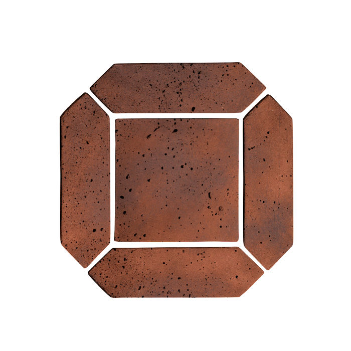 3x11 Artillo Picket Set Red Flash Travertine