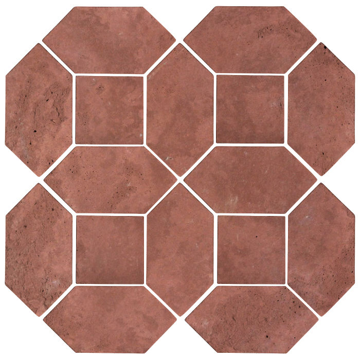 4x8 Artillo Picket Set Spanish Inn Red Limestone
