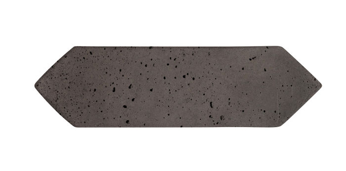 3x11 Picket Charcoal Travertine
