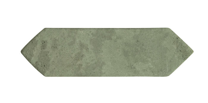 3x11 Picket Ocean Green Light Limestone