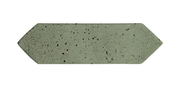 3x11 Picket Ocean Green Light Travertine