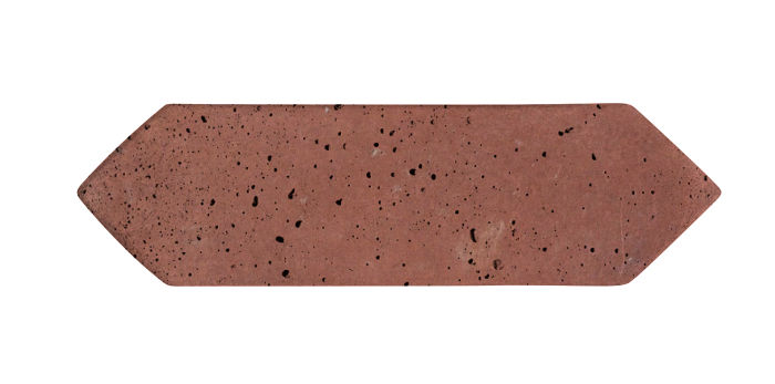 3x11 Picket Spanish Inn Red Travertine
