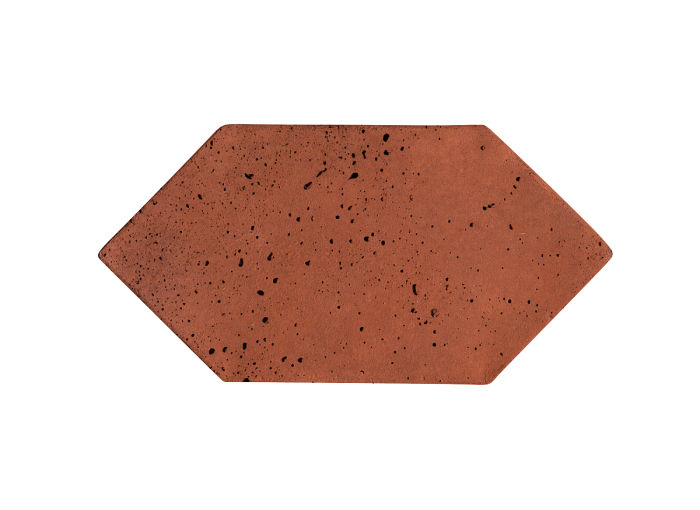 4x8 Picket Mission Red Travertine