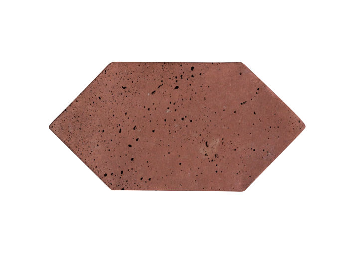 4x8 Picket Spanish Inn Red Travertine
