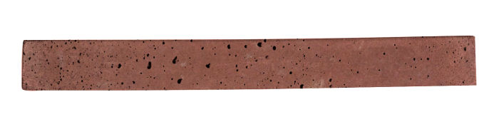 1x9 Artillo Spanish Inn Red Travertine
