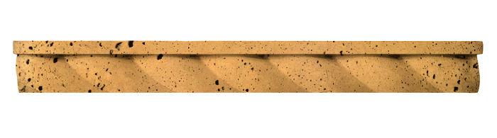 1.75x16 Rope Step Moulding Buff Luna