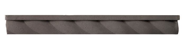1.75x16 Rope Step Moulding Charcoal