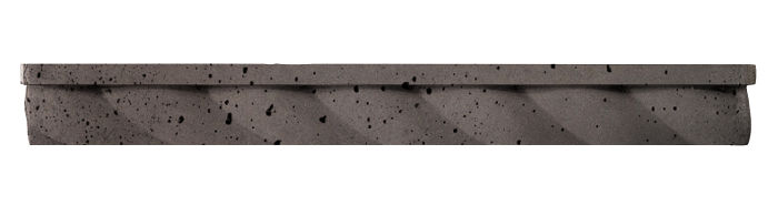 1.75x16 Rope Step Moulding Charcoal Travertine