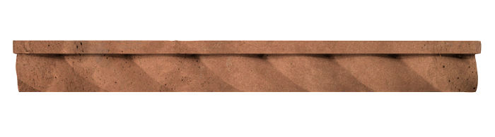 1.75x16 Rope Step Moulding Desert 1 Limestone