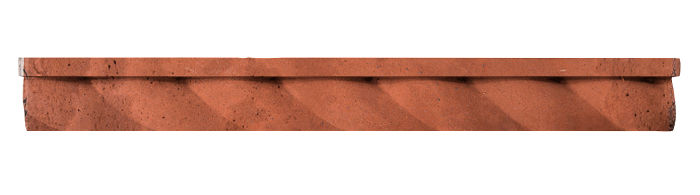1.75x16 Rope Step Moulding Mission Red Limestone