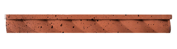 1.75x16 Rope Step Moulding Mission Red Travertine