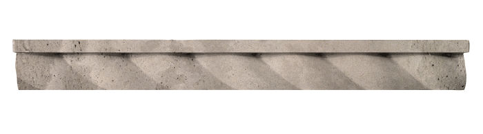 1.75x16 Rope Step Moulding Natural Gray Limestone