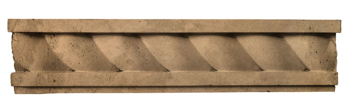 3.5x16 Rope Wall Moulding Caqui Limestone