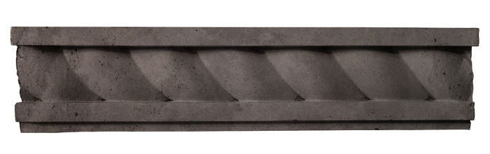 3.5x16 Rope Wall Moulding Charcoal Limestone
