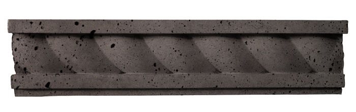 3.5x16 Rope Wall Moulding Charcoal Luna