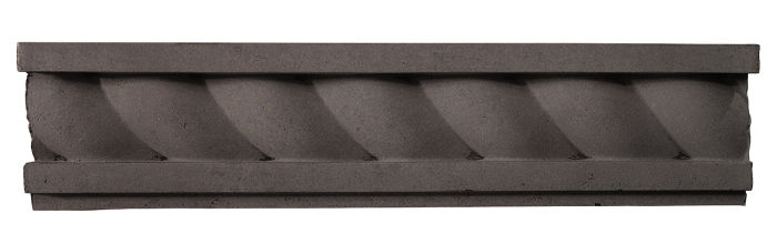 3.5x16 Rope Wall Moulding Charcoal