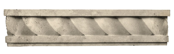 3.5x16 Rope Wall Moulding Early Gray Limestone