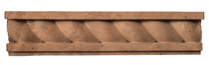 3.5x16 Rope Wall Moulding Flagstone Limestone