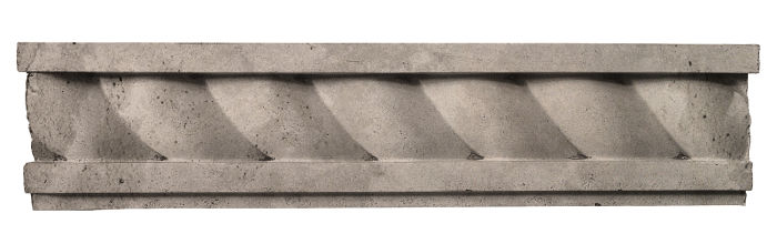 3.5x16 Rope Wall Moulding Natural Gray Limestone