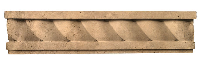 3.5x16 Rope Wall Moulding Old California Limestone