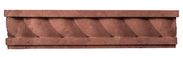 3.5x16 Rope Wall Moulding Spanish Inn Red Limestone