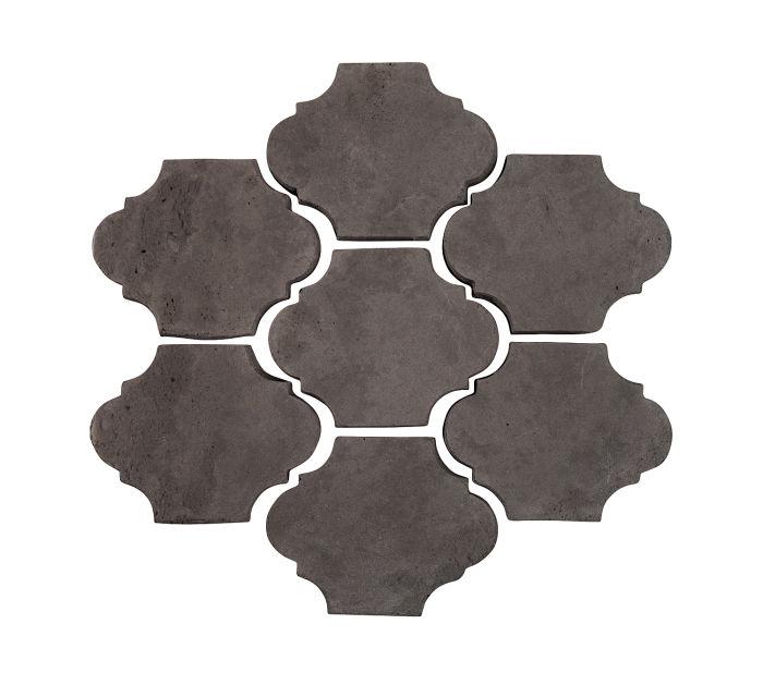 3x4 Mini San Felipe Charcoal Limestone