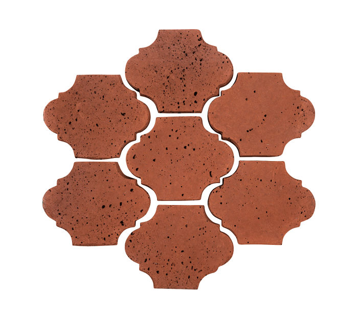 3x4 Mini San Felipe Mission Red Travertine