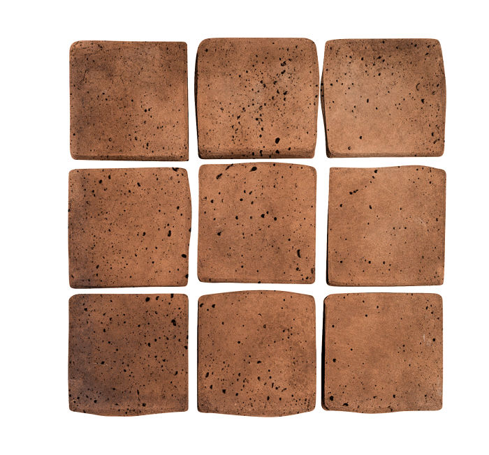 2x2 Artillo Cotto Dark Travertine